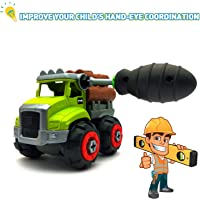 Emob® DIY Assembly Agriculture Farm Truck Construction Vehicle Truck Building Toy with Screw Driver (Wood Truck)