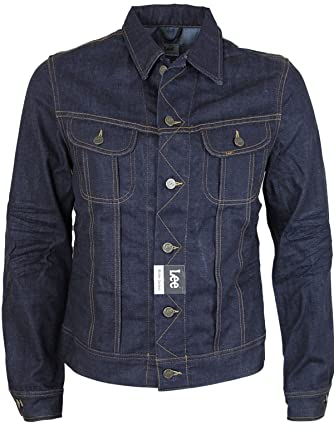 87c53467 MENS LEE RIDER DENIM VINTAGE JACKET IN 2 COLOURS ALL SIZES S TO XXL (XL,  Worn Rinse): Amazon.co.uk: Clothing