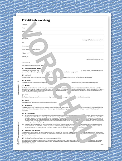 Avery Zweckform 2206e Praktikumsvertrag Pdf Download Amazonde