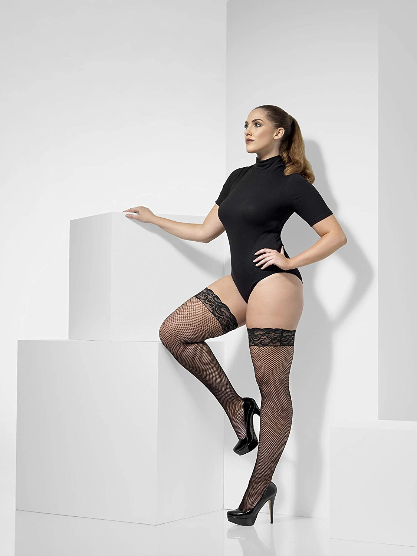Smiffy/'s Black Fishnet Tights Halloween Fancy Dress