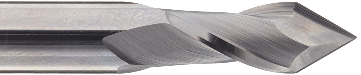 Bright 30 Deg Point Angle Uncoated Melin Tool AMG-DP Carbide Micro Drill Mill Finish 0.0625 Cutting Diameter 2 Flutes 1.5 Overall Length 0.125 Shank Diameter
