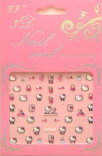 Amazon Hello Kitty Nail Art Stickers 2pk Xf306 Kids Nail