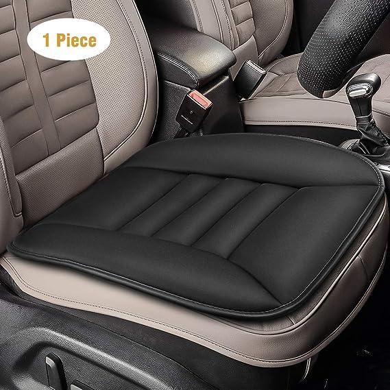 Tsumbay Auto Sitzkissen Sitzauflagen Autositzkissen Vordersitze Memory Schaum Pad Kissen Auto Abdeckung Für Autositz Bürostuhl Schwarz 1 Stück Auto
