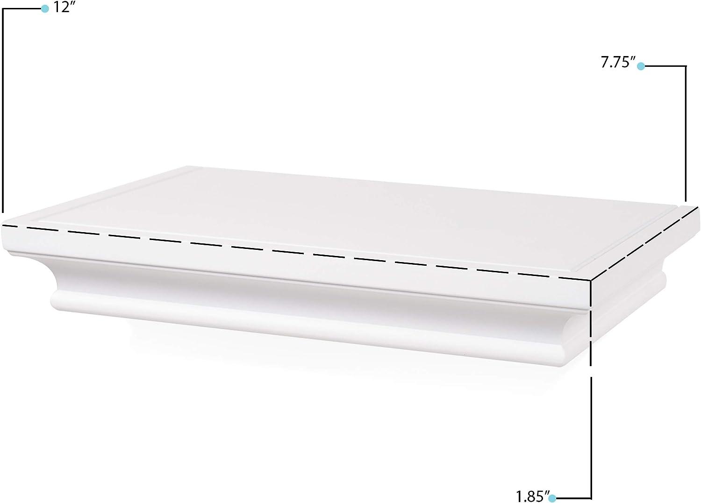 8x London White Metal Shelf Shelving Support Wall Mount Brackets 7 Sizes