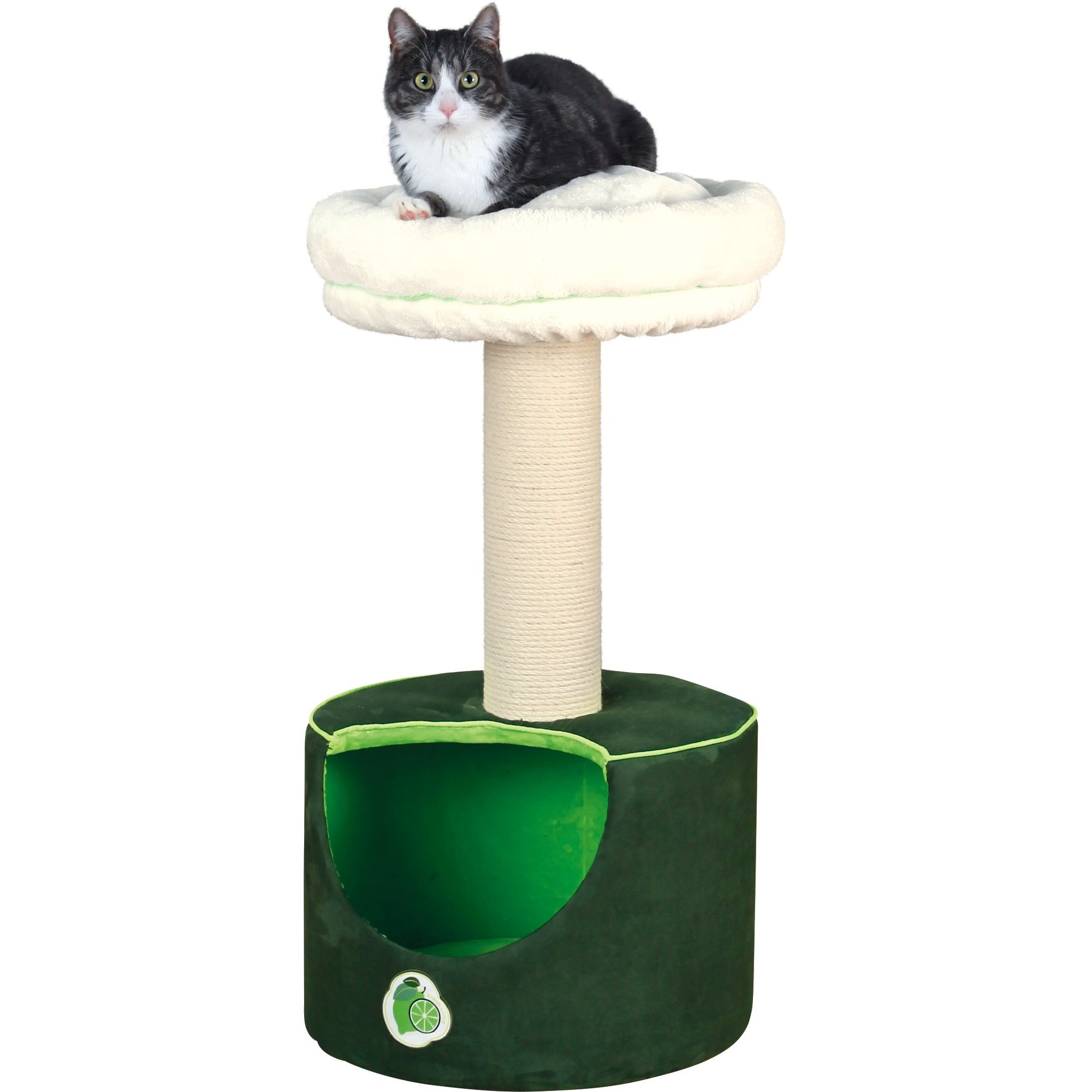 Trixie Fresh Lime Cat Scratching Post (30.7 inch) (Green/White)