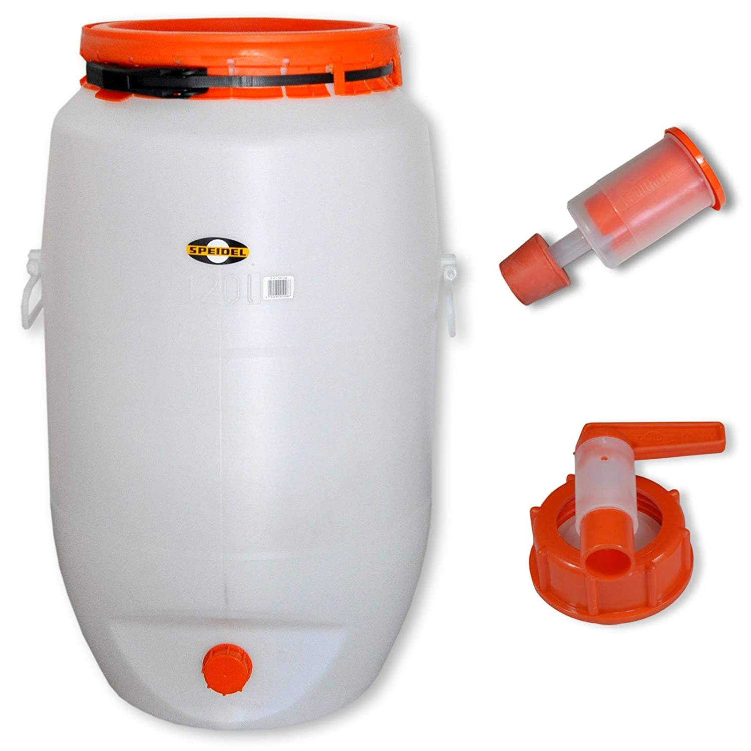 Barrel for fermentation SPEIDEL - Fermenter 120 L round + 1 airlock + 1 tap (22150+137+139) Wilai GmbH