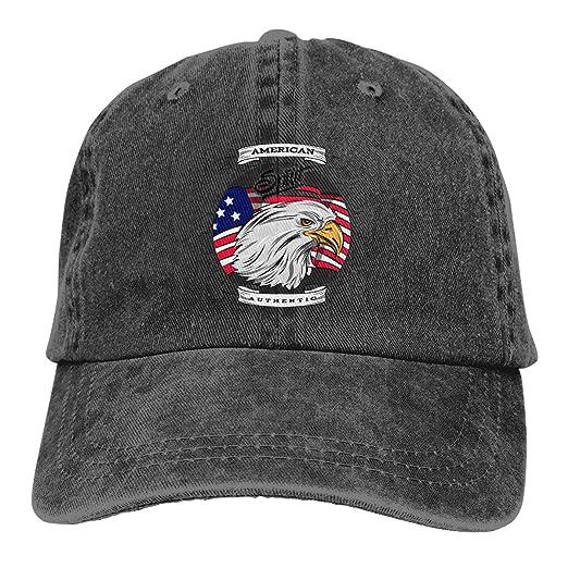 c9244bb4d23 Unisex American Spirit Authentic Vintage Chic Denim Adjustable Dad Hats  Baseball Cap Black