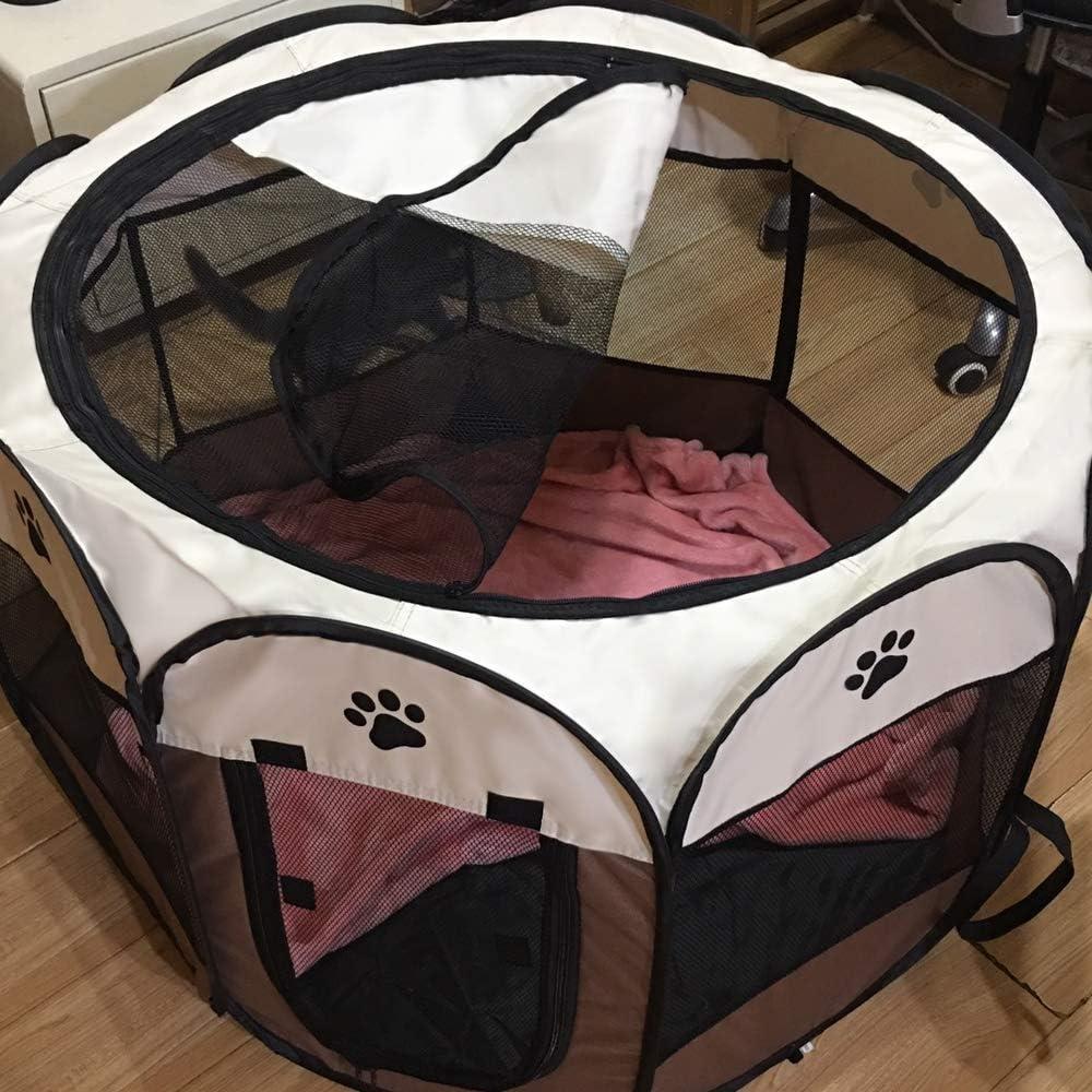 Conejos y Animales peque/ños 91 x 91 x 58 cm Coolty Parque Plegable port/átil para Mascotas 8 Paneles para Perros Gatos