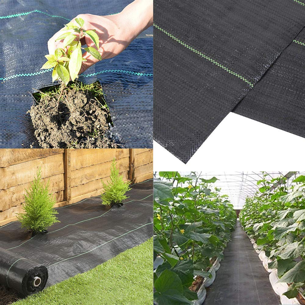 Goasis Lawn Weed Barrier Control Fabric Ground Cover Membrane Garden Landscape Driveway Weed Block Nonwoven Heavy Duty 125gsm Black,3FT x 300FT by Goasis Lawn (Image #1)
