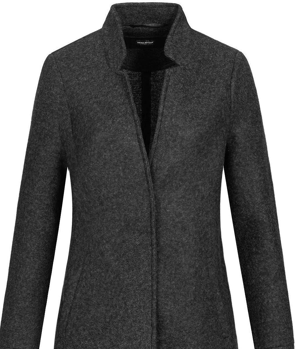 VERO MODA Damen VMVERODONA Trenchcoat COL Wollmischungs-Mantel