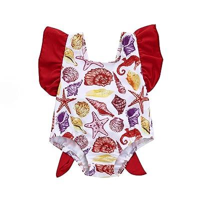 0-3 Years Old,Yamally_9R Infant Kids Baby Girls One Piece Swimsuits Cartoon Print Backless Swimwear