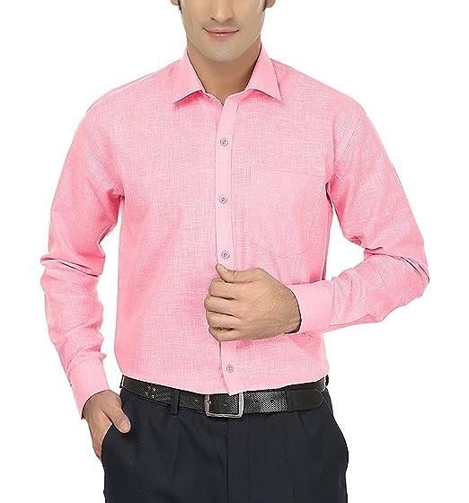 e1e77df8ed6cc8 Image Unavailable. Image not available for. Color: Men's Cotton Linen Blend Formal  Shirt ...