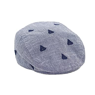 1983f50e21e LifenewBaby Newborn Baby Infant Boys Beret Hat Cotton Flat Cap Peaked Cap  Sailboat Navy Blue Stripe