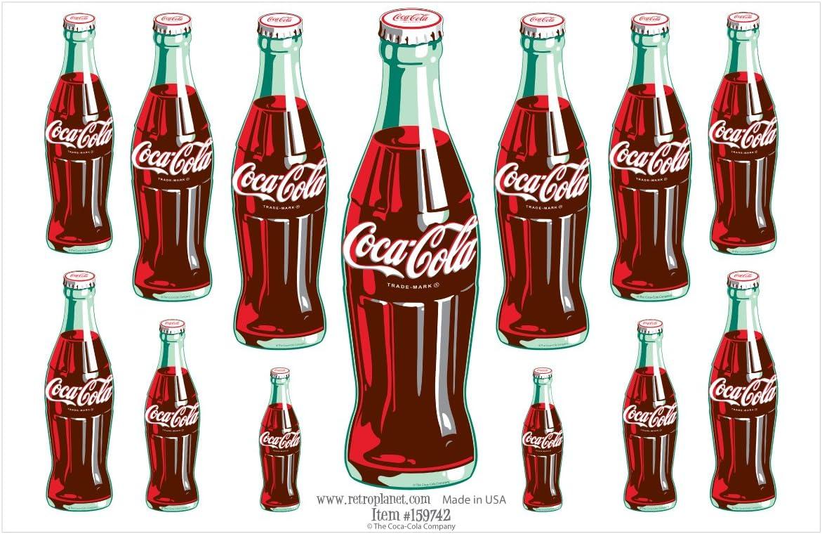 Retro Planet Coca-Cola 13 - Pegatinas de vinilo con diseño de botellas verdes: Amazon.es: Hogar
