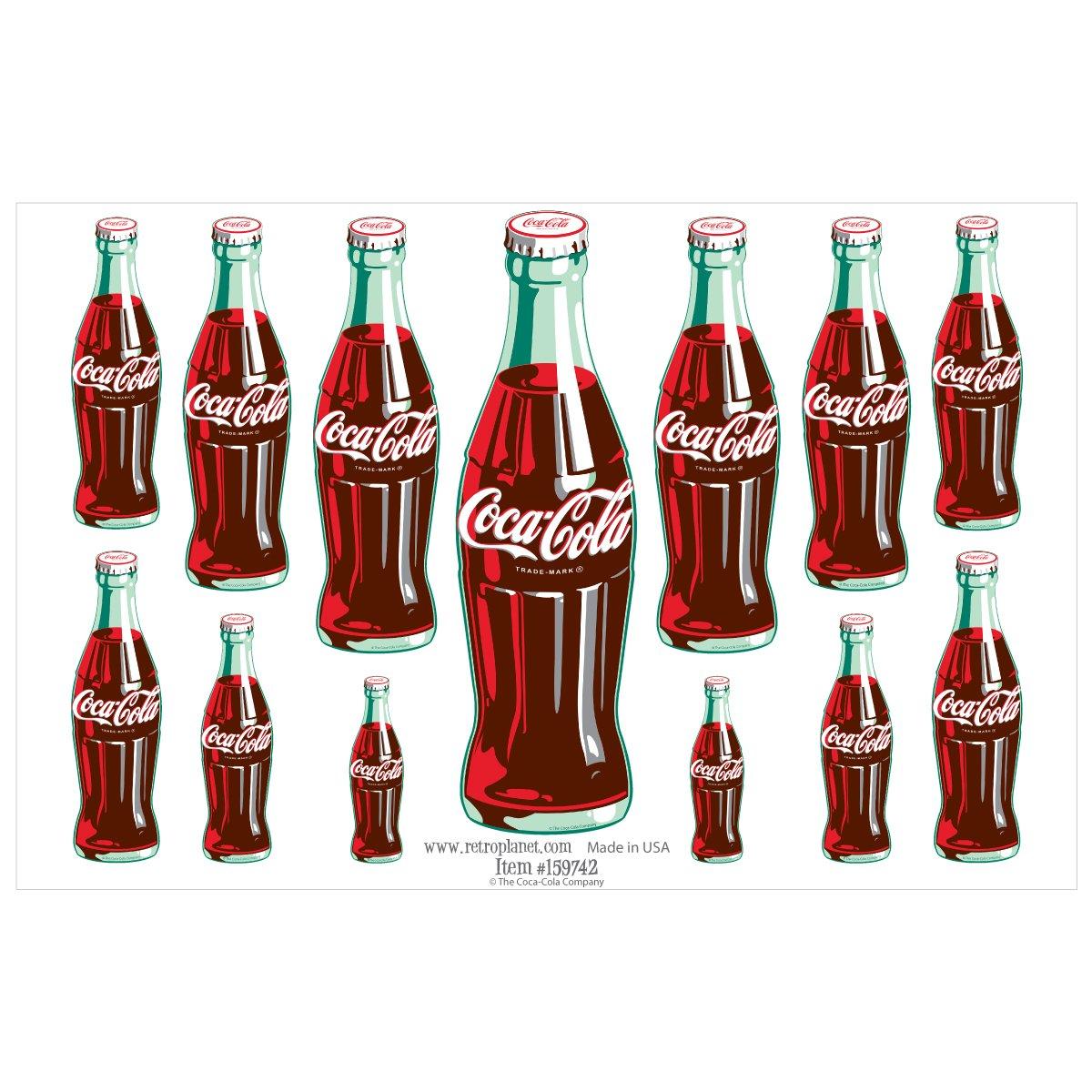 Coca-Cola Retro Planet 13 - Pegatinas de Vinilo con diseño de ...