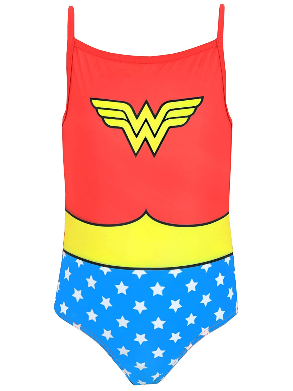 DC Comics Wonder Woman Girls Wonder Woman Swimsuit Ages 2 to 10 Years