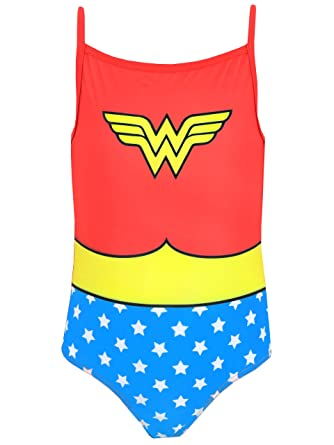 f8529a96fa Amazon.com  Wonder Woman DC Comics Girls Swimsuit  Clothing