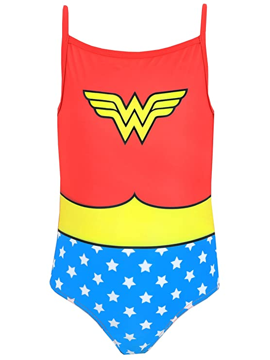 1e44a133591a DC Comics Wonder Woman Girls Wonder Woman Swimsuit Ages 2 to 10 Years