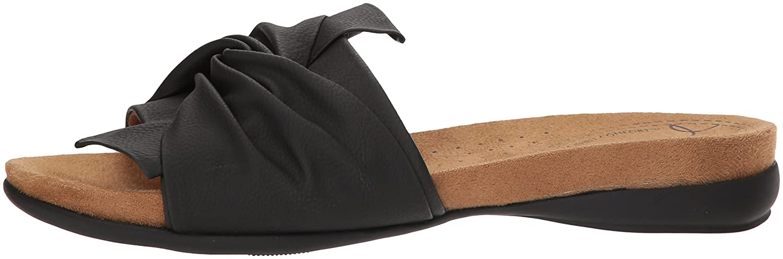 NATURAL SOUL Women's Adalia Slide Sandal B078HSHQX1 10 W US|Black