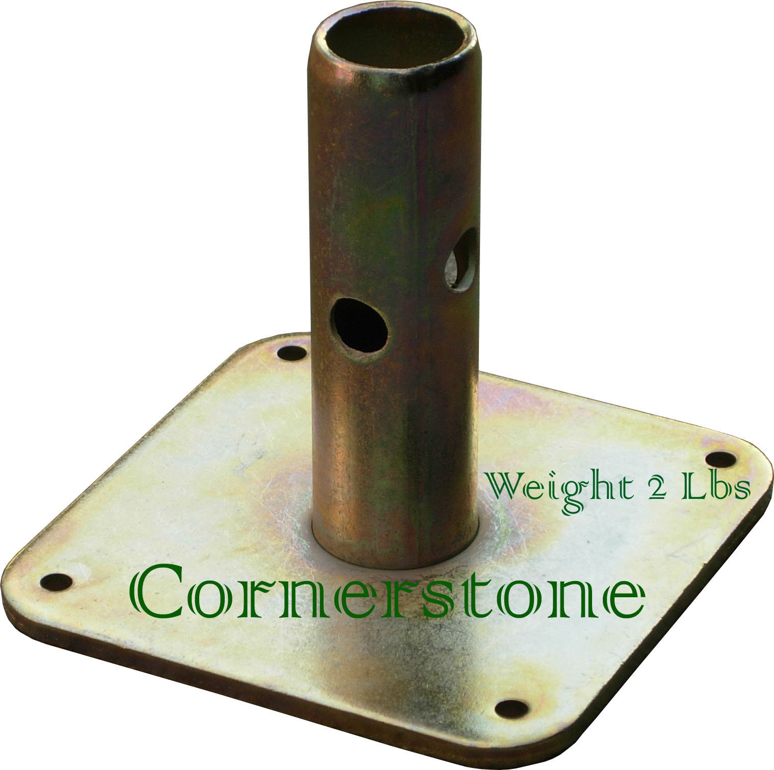 CBM scaffold 4 Quality Scaffolding Square Base Plate 5'' X 5'' Scaffold Frame Safety Base by Scaffold Base Plate