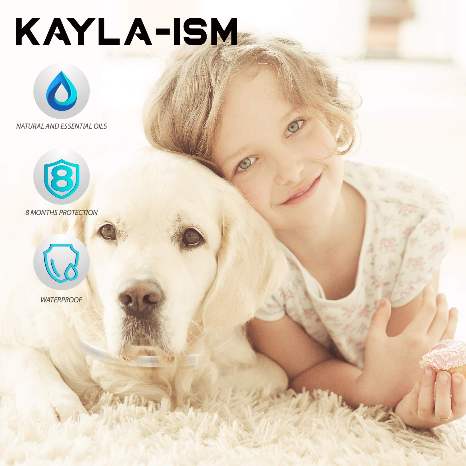 Kayla-ism Dog Flea and Tick Collar, Natural and Essential Oils, Waterproof, One Size Fits All, 8 Months Full Protection, Healthy and Harmless by Kayla-ism (Image #3)
