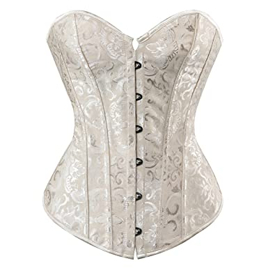a11f8ca217 NADAINGAA Womens Sexy Strong Boned Corset Lace Up Bustier Top at ...