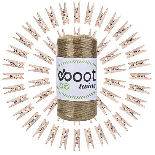 5 opinioni per eBoot 300 Piedi Stringa di Spago, Mestieri Spago, Naturale Spago con 50 Pezzi