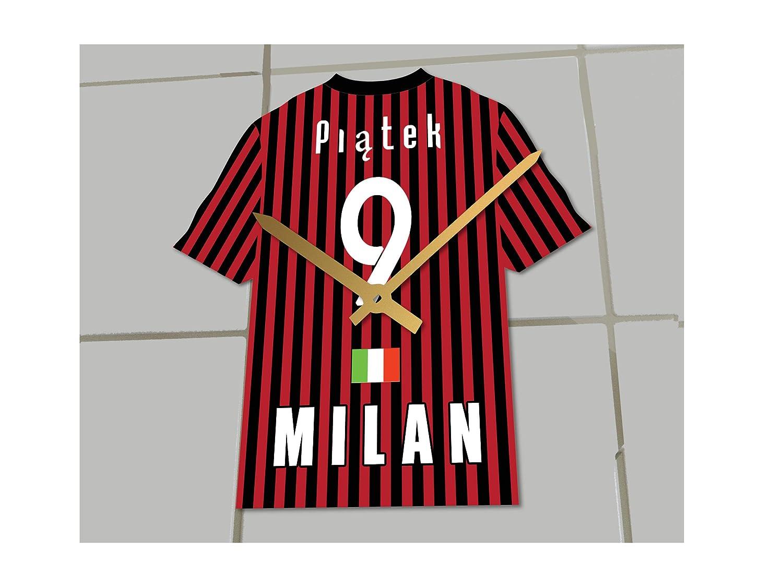 MyShirt123 AC Milan FC Fútbol Club - Camiseta de fútbol Reloj ...