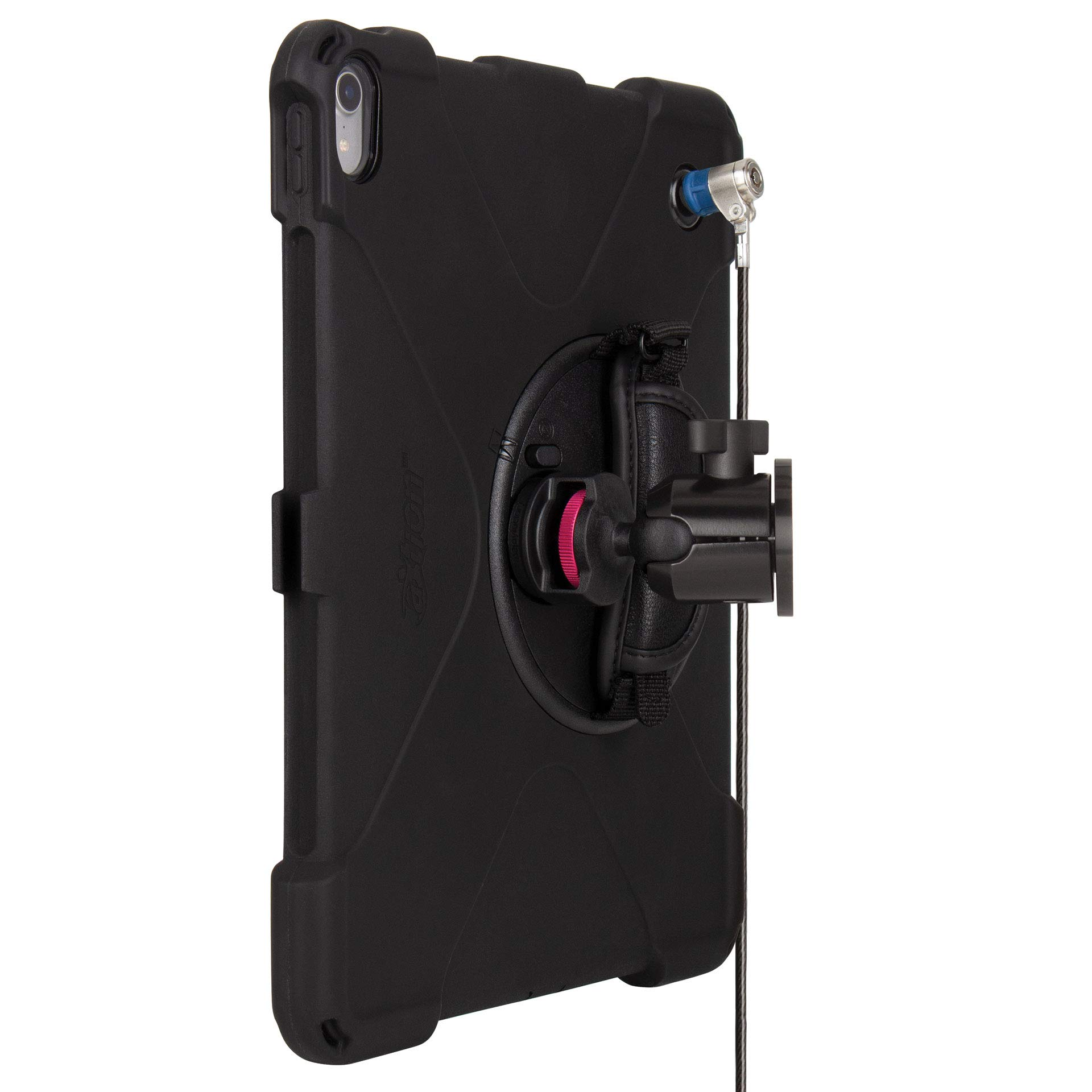 The Joy Factory MagConnect On-Wall Mount with aXtion Bold MPS Water-Resistant Rugged Security Cable Lock Case for iPad Pro 12.9'' [3rd Gen] Built-In Screen Protector, Hand Strap, Kickstand (MWA4115MPS)