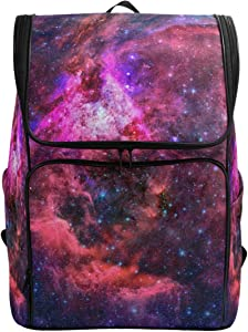Naanle 3D Beautiful Outer Space Nebula Stars Print Casual Daypack College Students Multipurpose Backpack Large Travel Hiking Bags Computer Bag for Men Women