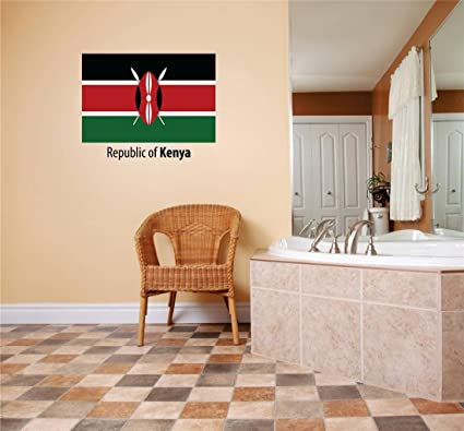 Decals Stickers Republic Of Kenya Flag Country Pride Symbol Sign