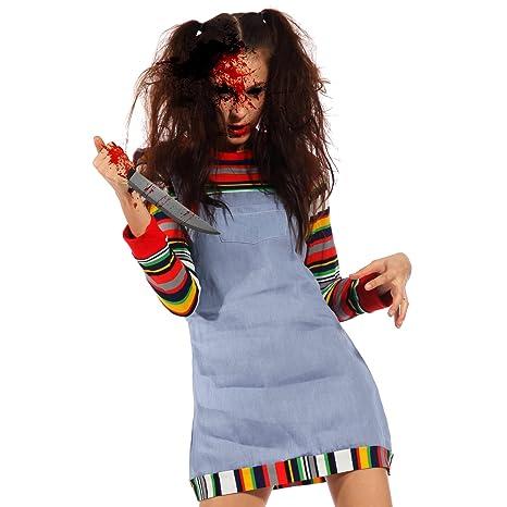 aspetto dettagliato ultima moda grandi affari Horror Halloween Cosplay Costume Donna Travestimento da ...