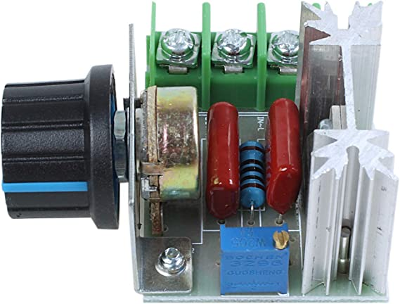 R Regulador de voltaje de velocidad SCR 2000W AC 220V SODIAL