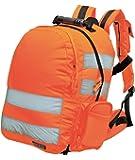 Standard Hi Vis High Viz Yellow or Orange Dayglow Rucksack (Orange)