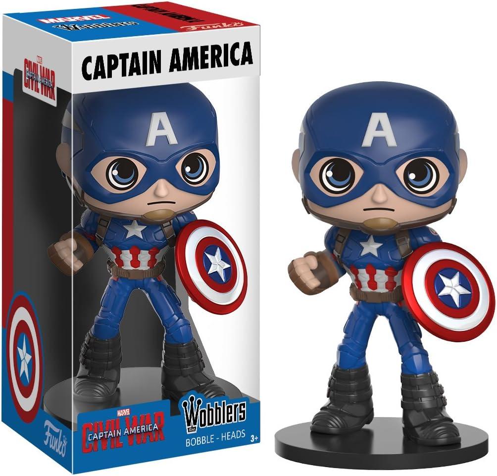 Marvel 12478 Wobbler Captain America Figure