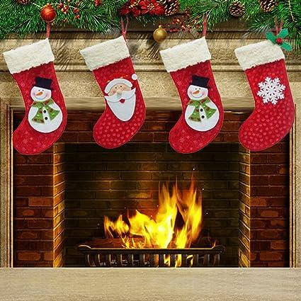 Zophor (TM) 3 piezas Árbol de Navidad para colgar calcetines/medias medias de