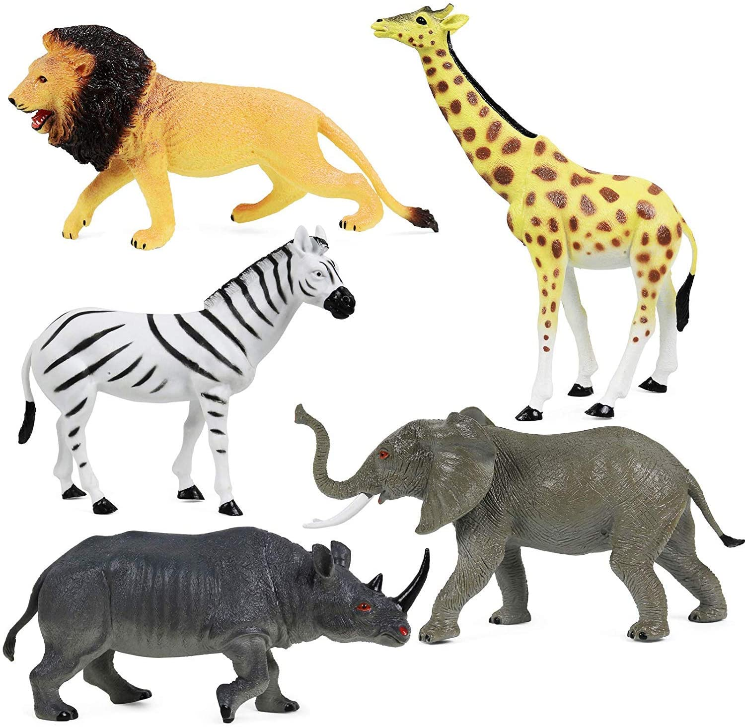 2 Packs of 12 Wild Jungle Small Animal Figurine Assortment Set