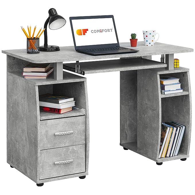 COMIFORT Mesa de Ordenador, Escritorio, Mesa de Oficina, 115x55x85 cm (Stone): Amazon.es: Hogar