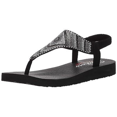 Skechers Women's Meditation-Gypsy Glam-Hooded Aztec Rhinestone Slingback Thong Flip-Flop | Sandals