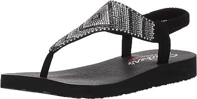 Skechers Women's Meditation-Gypsy Glam-Hooded Aztec Rhinestone Slingback Thong Flip-Flop
