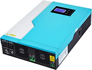 VEVOR Hybrid Solar Inverter 3500W Pure Sine Wave Inverter 24VDC Input to 230VAC Output Multi-Function Off-Grid Solar Inverter No Need Battery All in One Inverter W/ 100A MPPT Solar Charger Controller