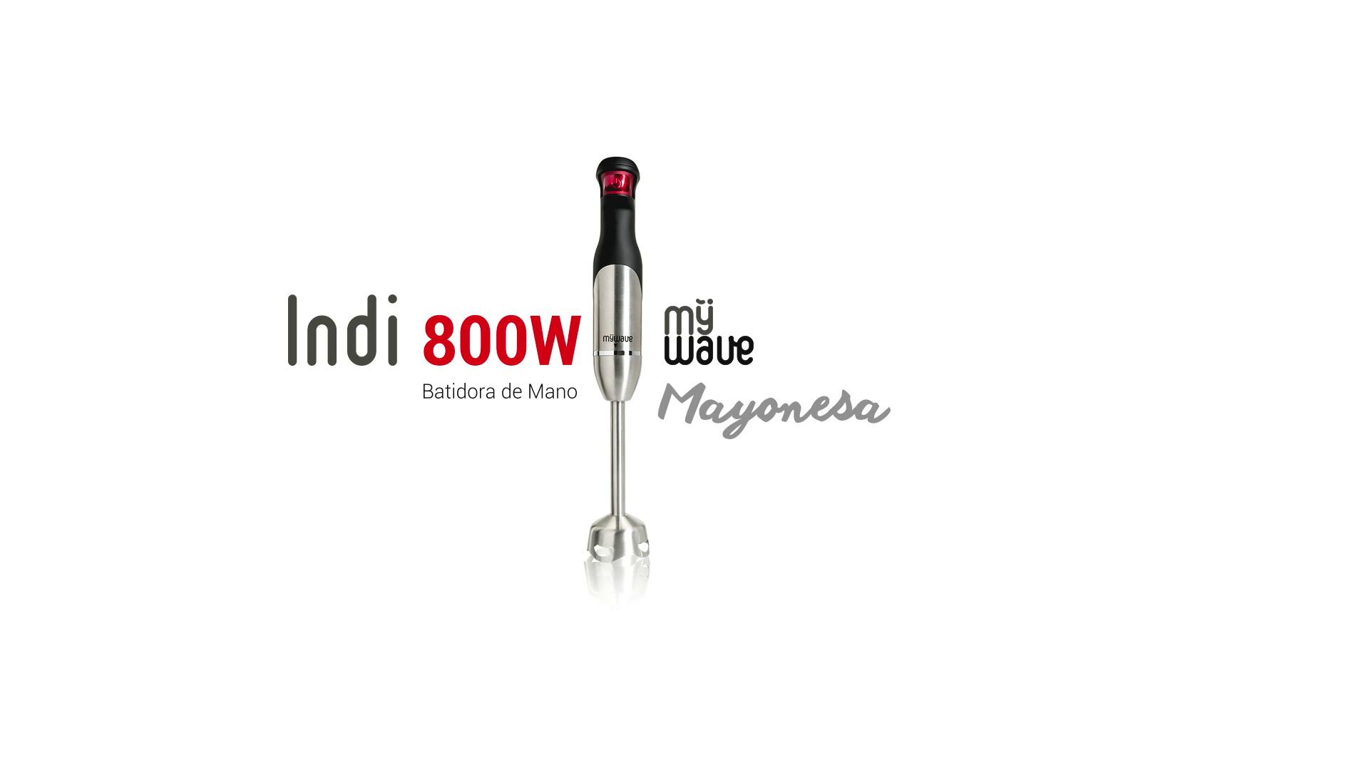 MyWave Indi Batidora de mano, 800 W, 0.6 litros, Acero Inoxidable, Negro/rojo: Amazon.es: Hogar