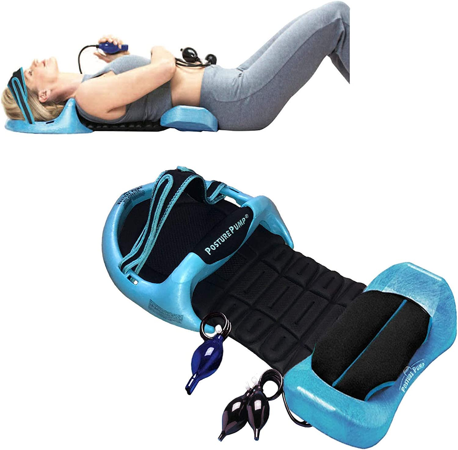 Posture Pump Relief for Neck and Back Pain - Deluxe Full Spine Model 4100-S (Single Air Cell Cervical) DISC HYDRATOR: Health & Personal Care