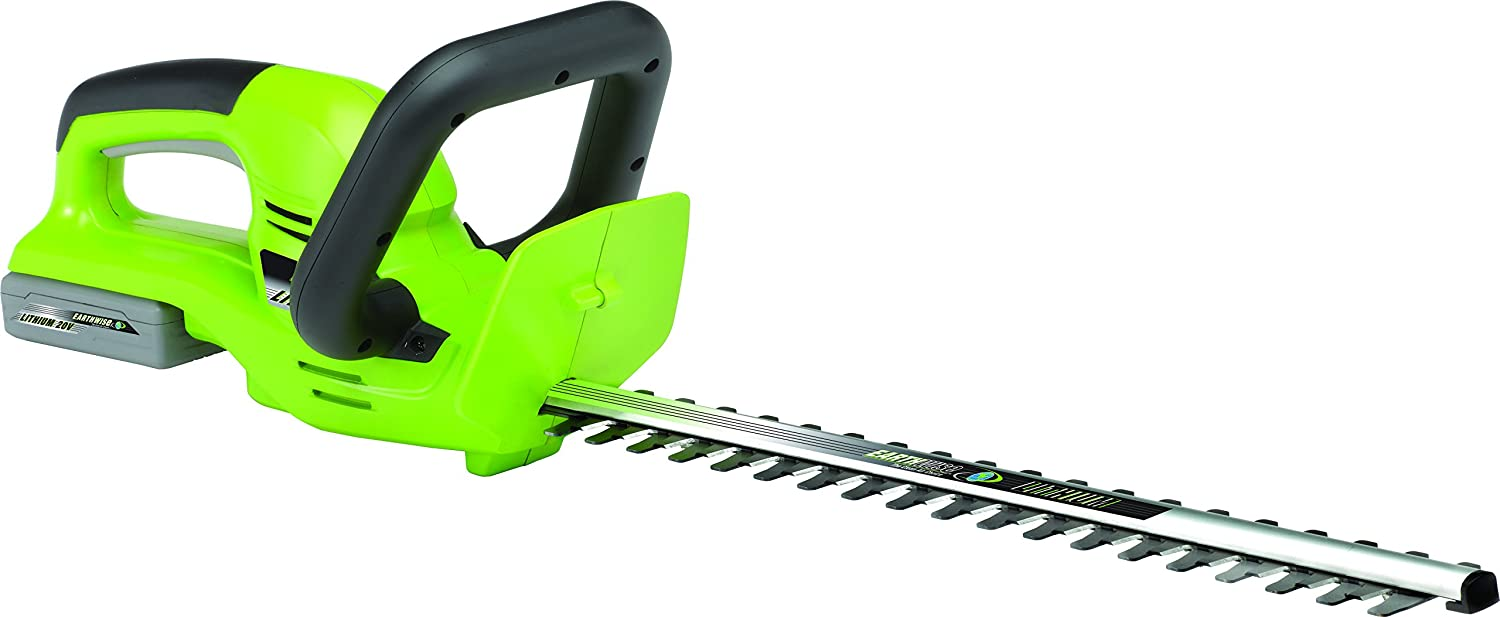 Earthwise LHT12020 20-Inch 20-Volt Lithium Ion Cordless Electric Hedge Trimmer