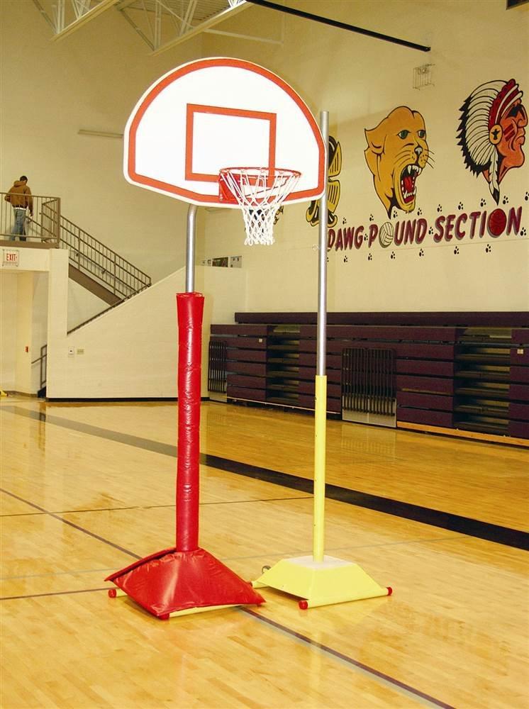 SportsPlay Game Standard Portable Hoop System w Fan Backboard (Fiberglass)