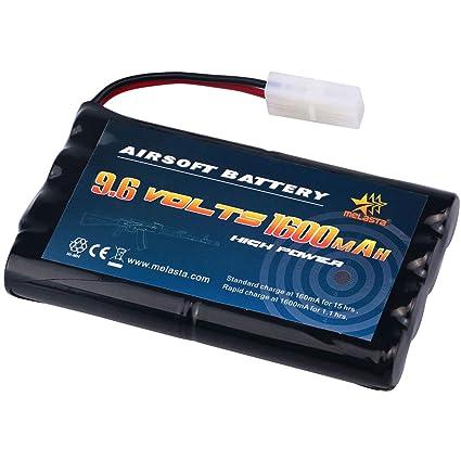 Amazon.com: melasta 9,6 V AA 1600 mAh NiMH battery Pack con ...