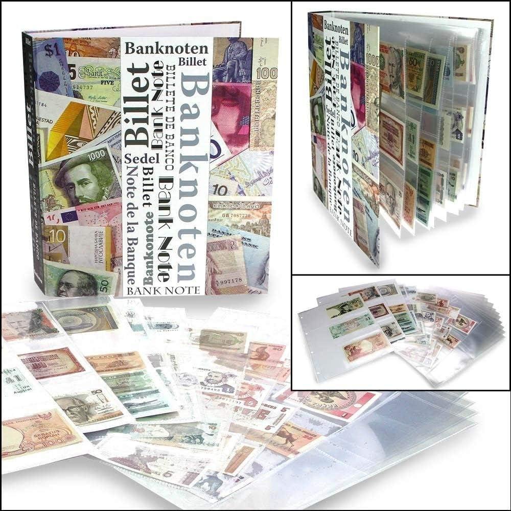 SAFEPRINT 7921 álbum de recortes billetes álbum DIN A4 + 20 x Compact DIN A4 Fundas nº 5483 – para hasta 120 billetes – Billetes – Papel Dinero: Amazon.es: Hogar