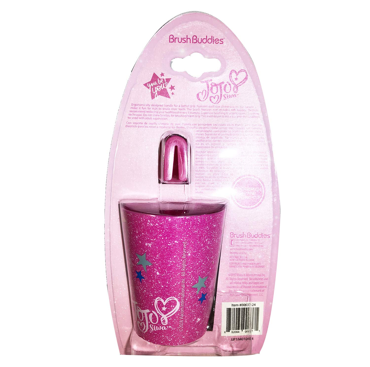 Amazon.com: 3pcs Jojo siwa pink Big Girl Toothbrush Cap & Rinsing Cup Set: Health & Personal Care