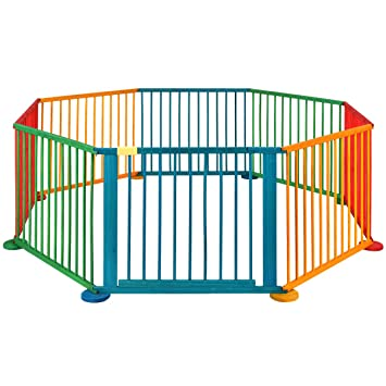 Great Costway Baby Playpen Activity Centre Wooden Play Pen Kids Playard Room  Divider (8 Panels)