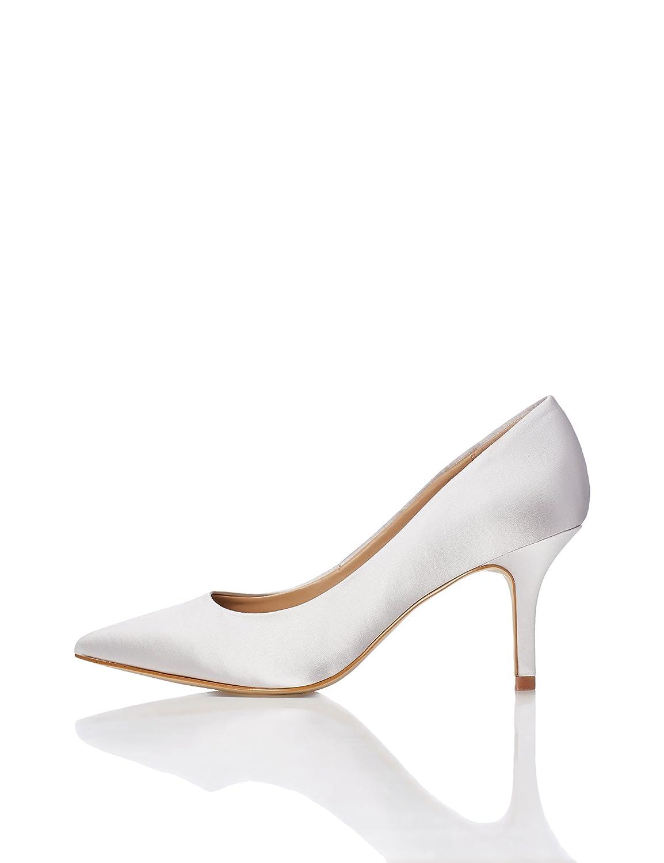 FIND Zapatos de Tacón de Satén para Mujer